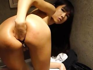 Teen Asian Squirts Like Crazy In Public Restroom