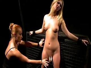 Mean Lezdom Shows No Mecy To F Slave
