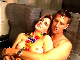 Regina Russell Nude In Sex Scene In An Airplane Seat,first