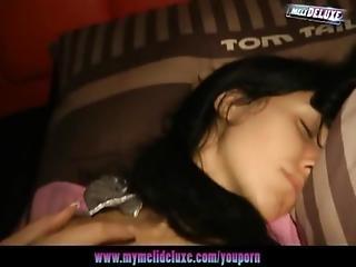 Sleeping Girl Gets Woken Up To Lustful Pleasure