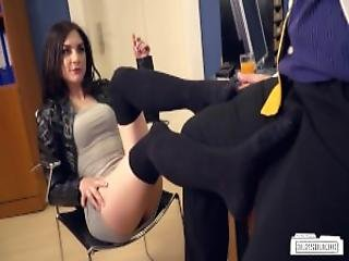 Bums Buero Lusty Black Haired German Babe Lullu Gun Gets Banged By Boss In The Office