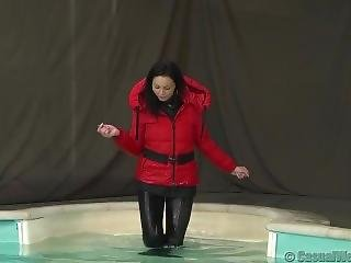 Winter Jacket In Pool