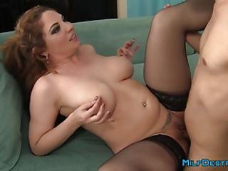 Buxom Brunette Cougar Rides Like Crazy