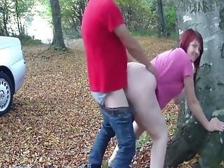 Shameless Wife Loves Stranger In The Woods