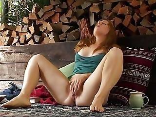 フィンガリング, マスターベーション, オーガズム, 赤毛, 小さなおっぱい