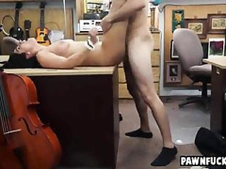 Sexy Fat Ass Brunette Gets Her Tight  Pussy Pounded From Behind