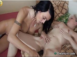 Hot Granny And Her Horny Young Friend