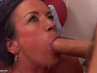 anal, anal creampie, krem, creampie, bedstemor, matur
