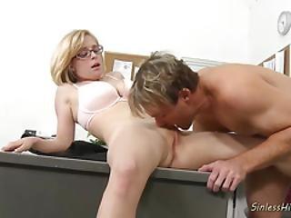 Nerdy Blonde Schoolgirl Loves Wild Sex