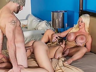 Hot Neighbor Bangs Milf Alura And Dauhter Blair