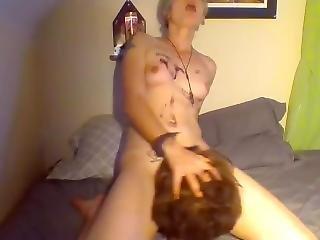 Crazy Bitch Fucks Mannequin Head