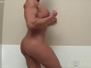 badkar, stortuttad, brunett, fetish, milf, solo, tub