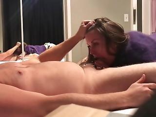 amatør, babe, blowjob, brunette, pels, handjob, tattovering