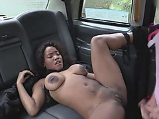 Ebony Bitch Getting Stretched By An Unstoppable Dude