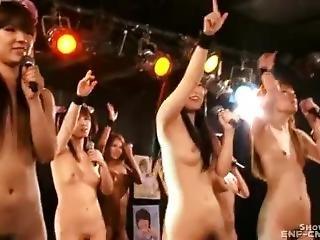 kont, chick, dikke kont, dikke tiet, gangbang, japaans, feest, publiek, Tiener