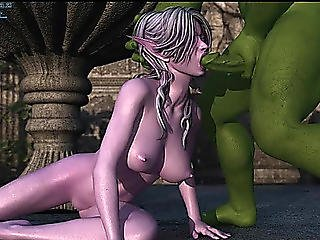 3d Hentai Engulfing Monster Dick