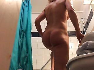 Mami Showering Hidden Camera