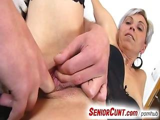 Gorgeous Czech Milf Beate Pussy Stretching Games Zoomed In