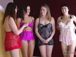 Lostbets Games- Strip Skee Ball With Alisha, Helena, Starli And Selina