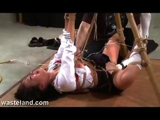 Wasteland Bdsm Sex Master Ties Sex Slave Nyssa To Bamboo For Bdsm Torment