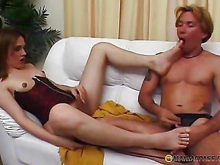 In His Blond Sucks Rod