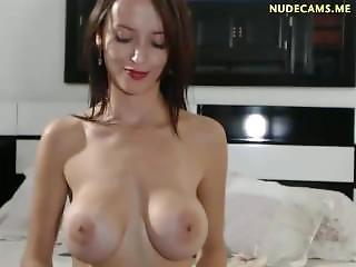 όμορφη, μεγάλο βυζί, μελαχροινή, Busty, γυμνό, στριπτίζ, Teasing, Webcam