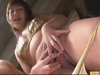 Cutie Pussy Fondled And Fucked With Dildo