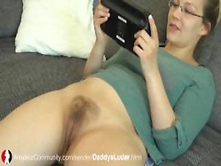 German Teen Daddys Luder With Hairy Pussy