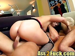 Brunette Whore Ass Fucked By More Than One Guy In Extreme Orgy