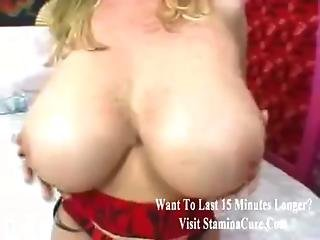 Big Tits And Sexy Boots On Milf Slut
