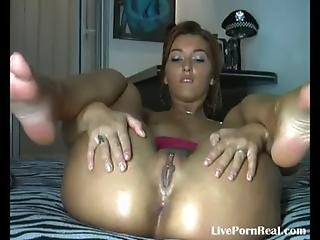 Watch Her Fingering Herself And Playing With A Dildo 4 .flv