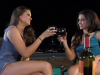 Lesbians Fucking After Drinking Some Wine