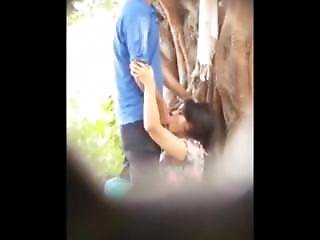 Desi Couple Caught Outside Girl Giving Blowjob