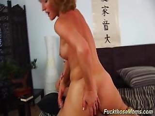 Skinny Mature Enjoys A Strong Dick