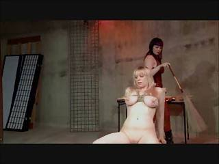 Femdom Lesbian Nipple Clamps And Spanking