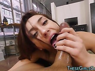 Teen Tugs Cock For Cum