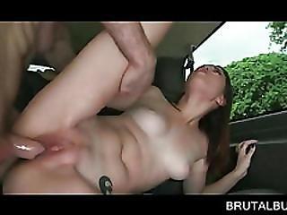 Hot Brunette Slit Pounded Till She Cant Take It
