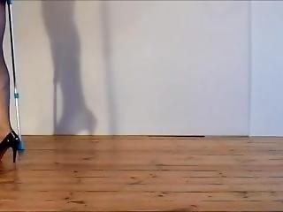 One Leg Posing Amputee