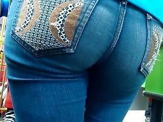 zadek, velký zadek, džíny