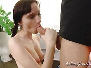 Slender Cuckold Babe Fucks For Cash