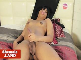 Beautiful Tgirl Rides Cock In Ir Action