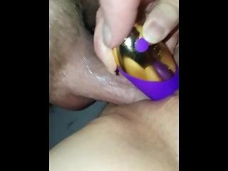 Double Vaginal, Dildo And Cock