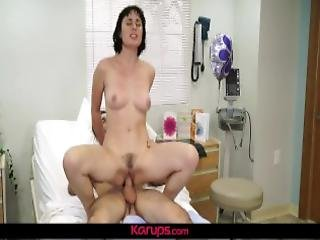 Karups Olive Glass Gets Her Pussy Examined By His Cock