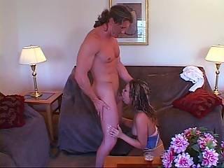 Curly-haired Babe Fucks A Huge Boner