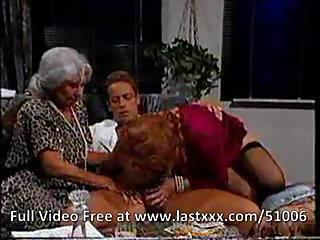 3 Old Ladies Enjoying A Mean Cock