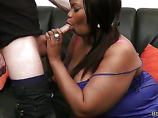 Chunky Black Slut Nailed Rough