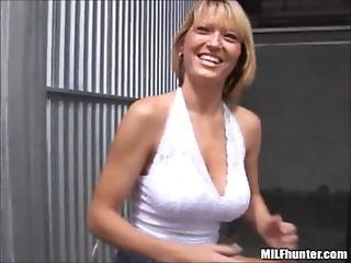 Blonde, Blowjob, Cumshot, Doggystyle, Mature, Milf, Miniskirt, Skirt