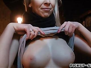 Busty Amateur Blonde Eurobabe Fucked On Massage Table
