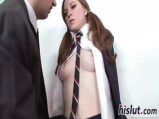 Young Minx Has Her Tight Snatch Pumped