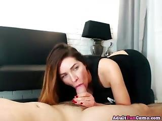 Naughty Milf Sucks Cock And Gets Fucked In Clothes